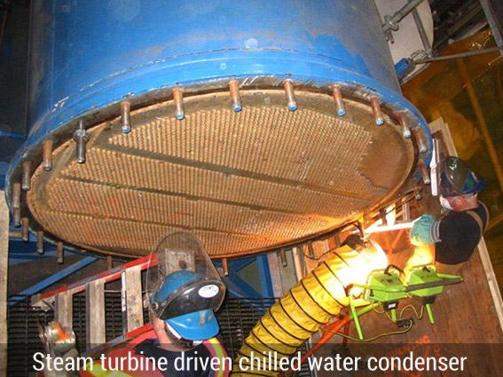 Steam turbine driven chiller