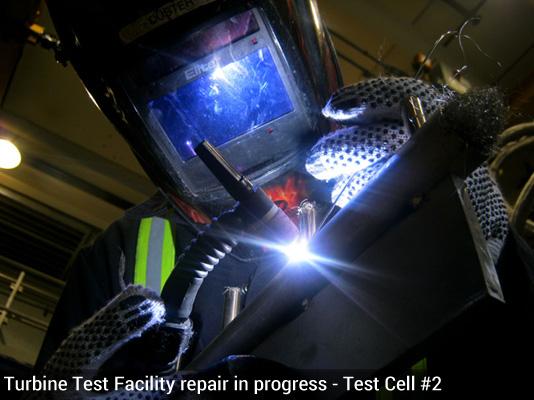 Test Cell #2 welding