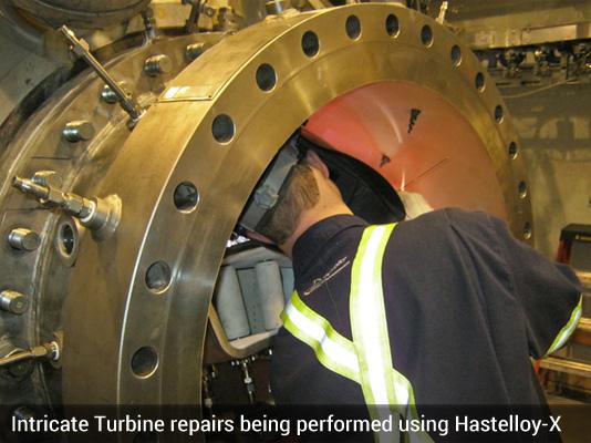 Turbine repair Hastelloy-X