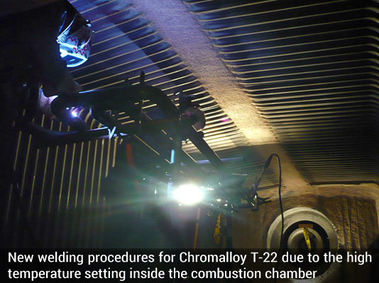 Chromalloy T-22 combustion chamber