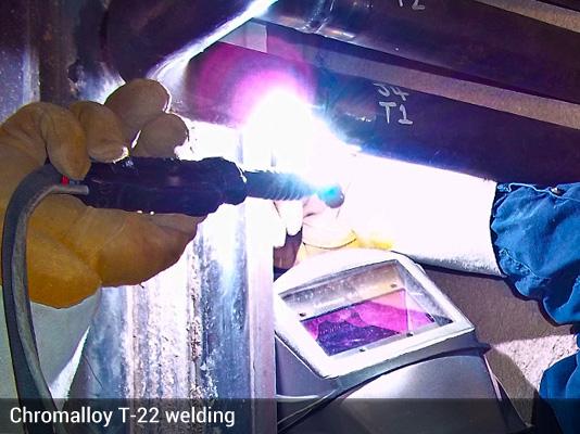 Chromalloy T-22 welding